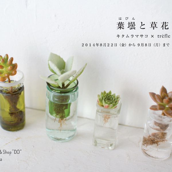 葉壜と草花<br>キタムラマサコ × trèfle