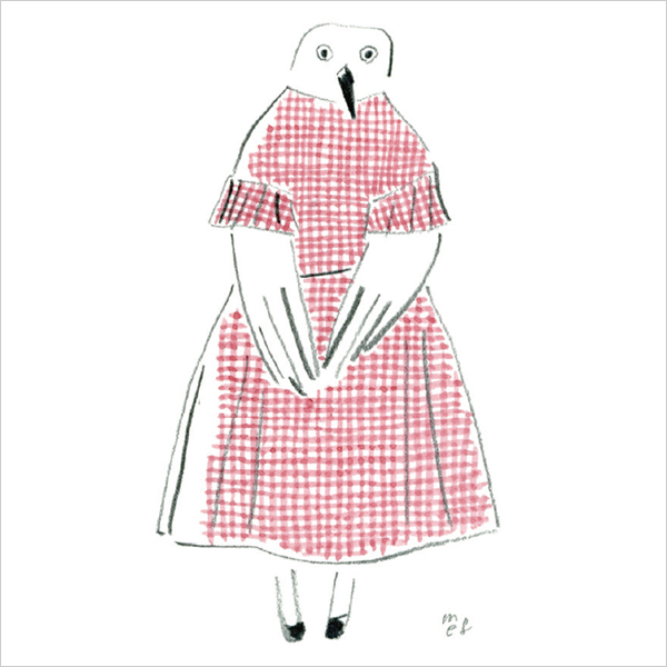 "BLANKET ""gingham bird"""