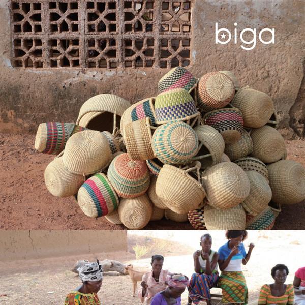 biga「西アフリカのかごと布」展