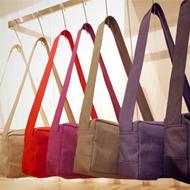 three さんのバッグはじめました。